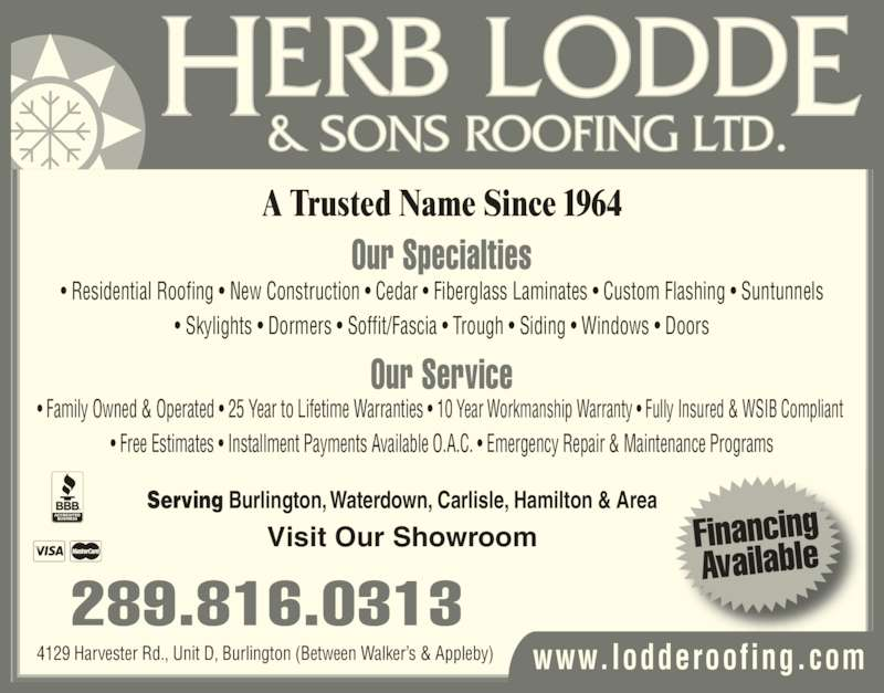 herb lodde & sons roofing reviews