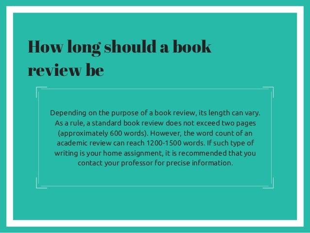 a book review on any book
