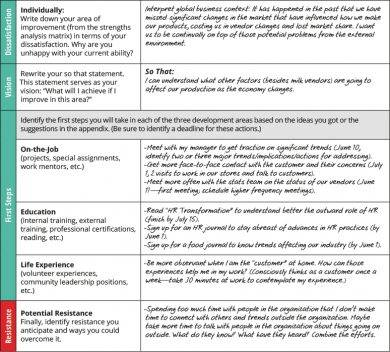areas of development performance review examples