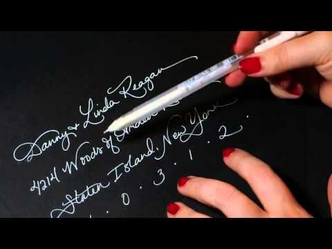 gelly roll white pen review