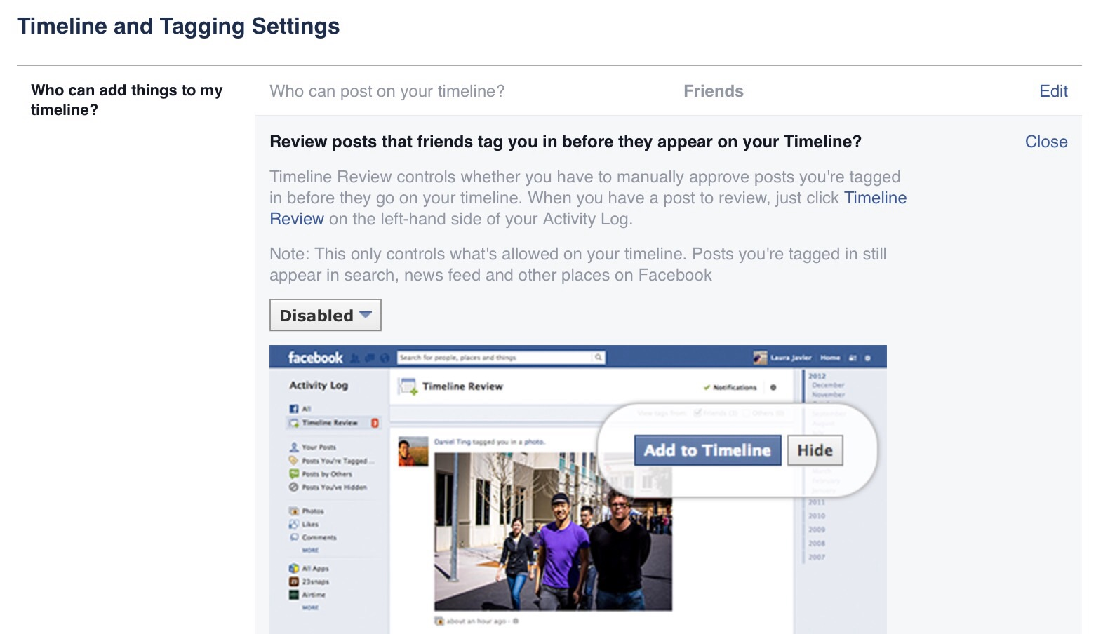 how to hide a review on facebook