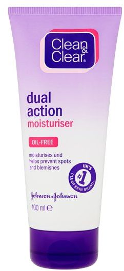 clean and clear dual action moisturiser review