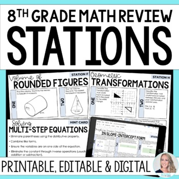 grade 8 math year end review