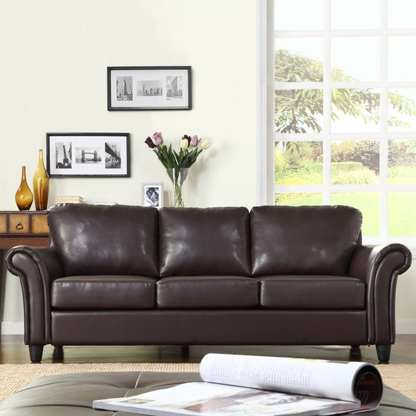 leather look fabric sofa reviews
