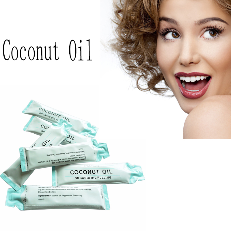 coconut oil pulling teeth whitening reviews