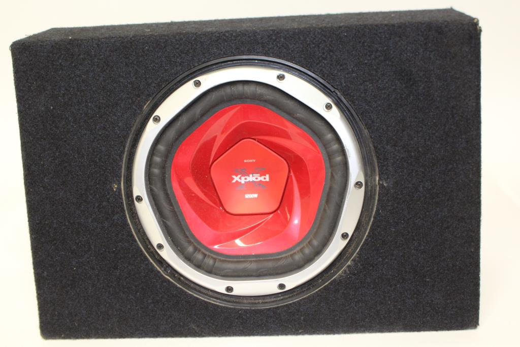 1200 watt sony xplod subwoofer review