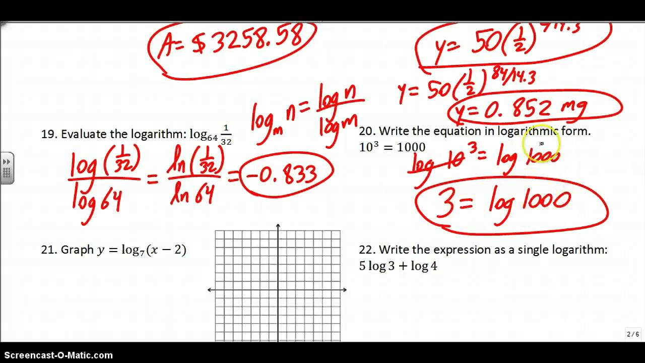 algebra 1 final exam review