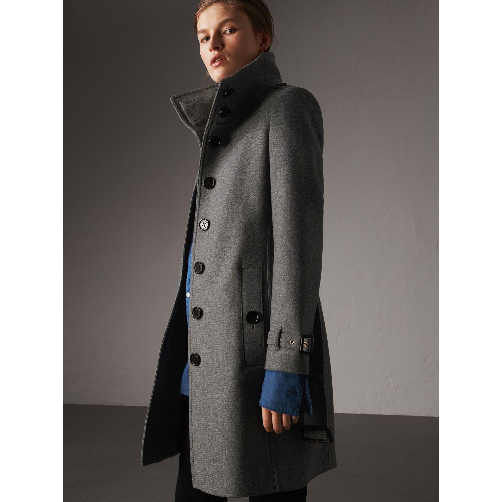 burberry technical wool cashmere funnel neck coat review