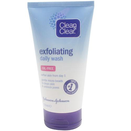 clean n clear exfoliating daily wash review