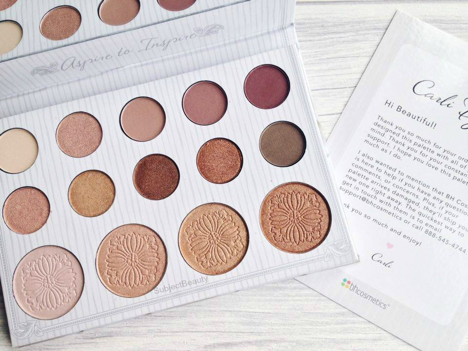 bh cosmetics carli bybel palette review