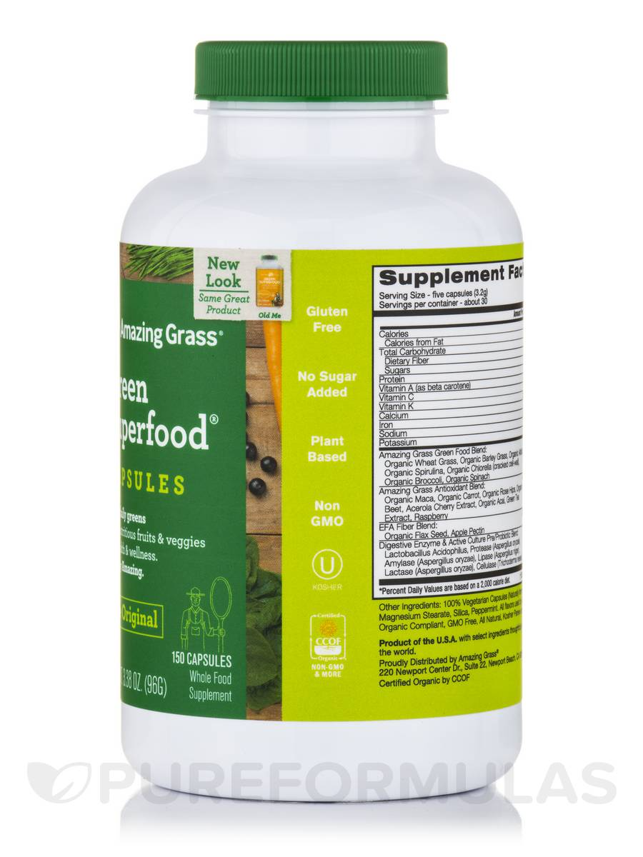 amazing grass green superfood capsules reviews
