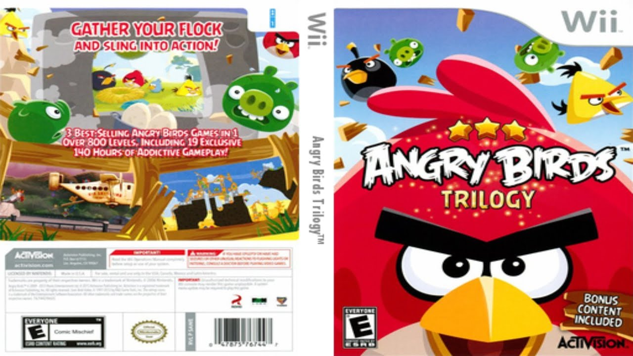 angry birds trilogy wii review