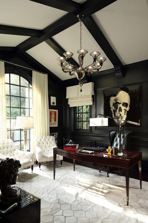 black and white house interior design review