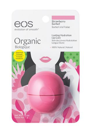 eos lip balm strawberry sorbet review
