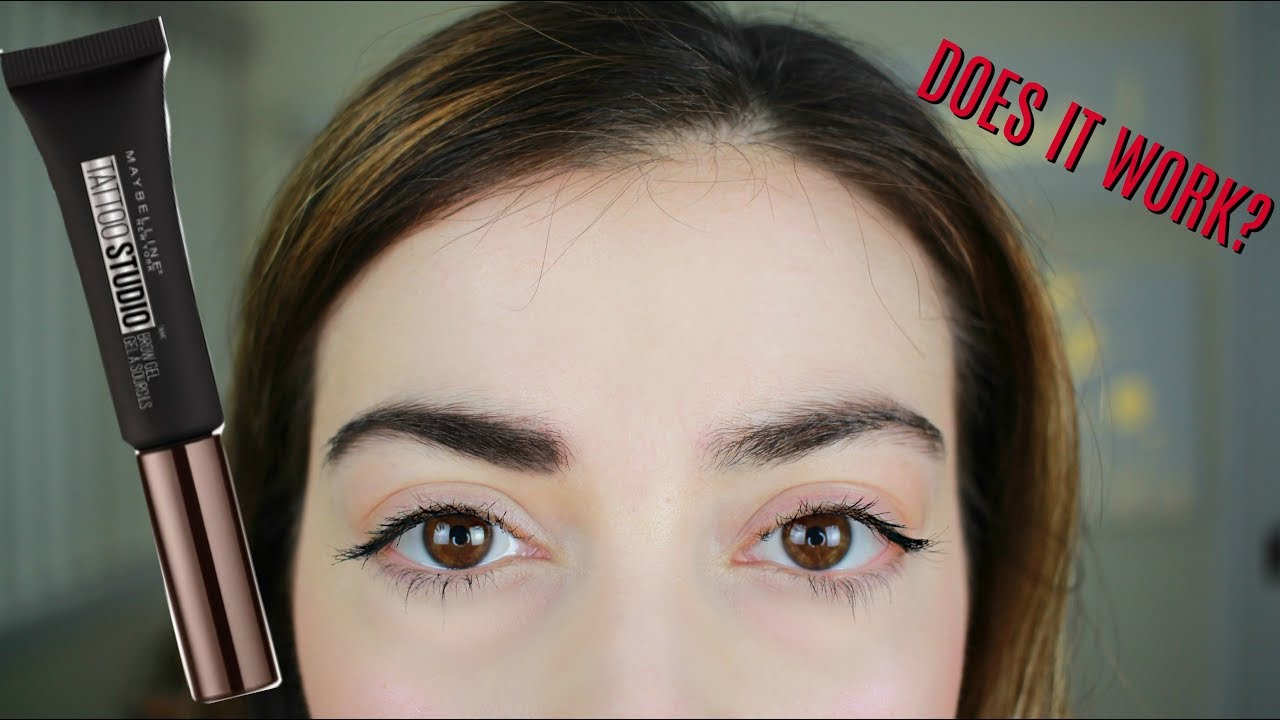 maybelline tattoo studio brow gel review