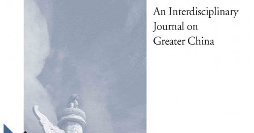 china review an interdisciplinary journal on greater china