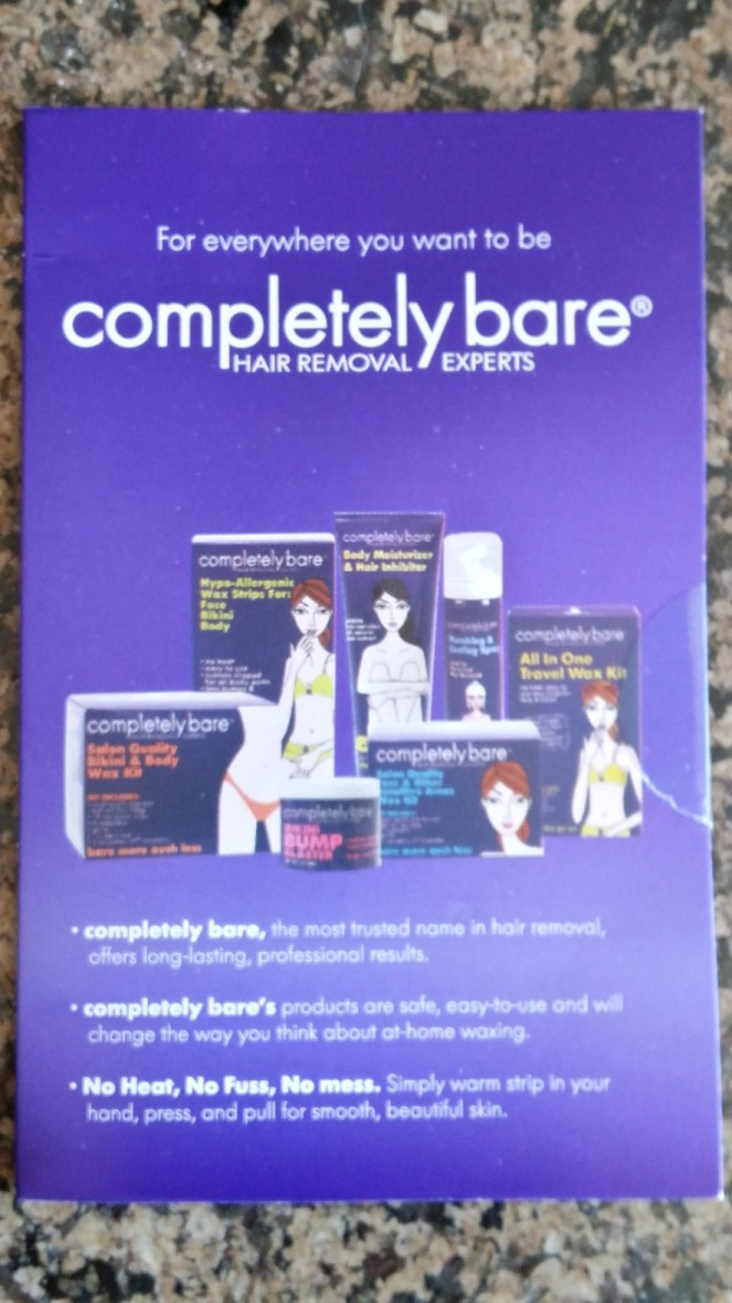 completely bare wax strips reviews