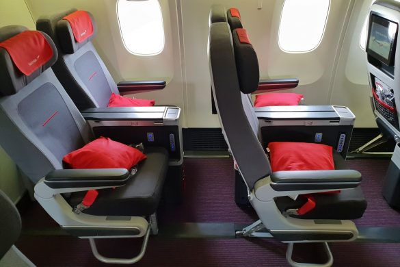 austrian airlines economy class review