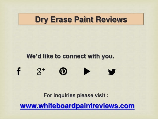 dry erase board paint reviews