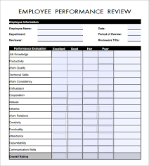 employee annual review form free