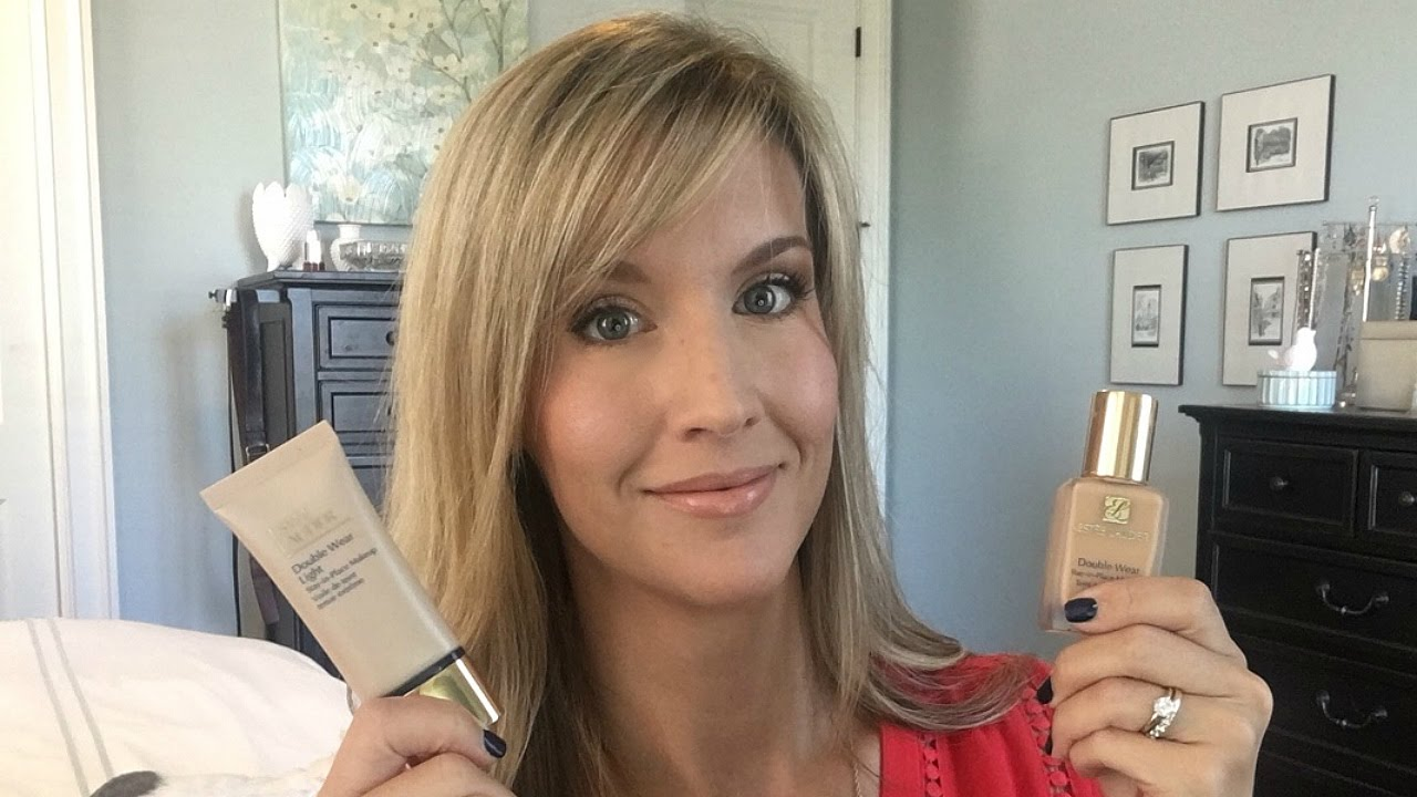 estee lauder double wear light review youtube