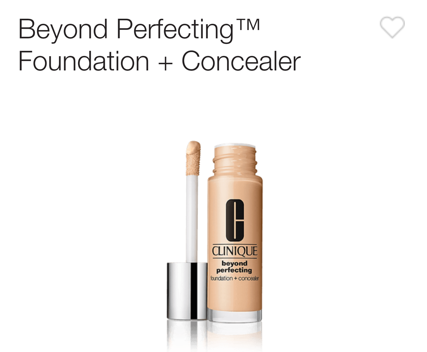 clinique beyond perfecting foundation concealer review