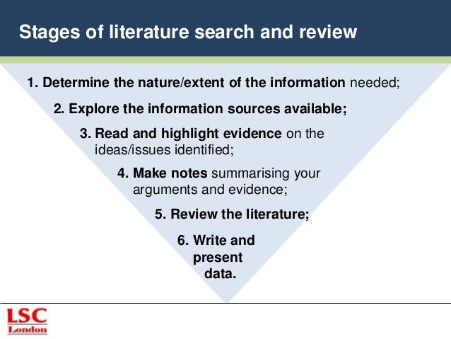 four main sources of literature review