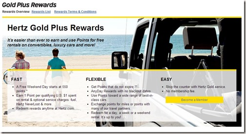 hertz gold plus rewards review