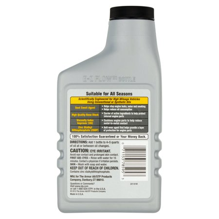 stp high mileage oil treatment review